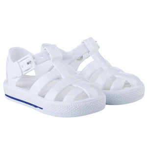 Igor Buckle Strap Tennis Sandal Solid White