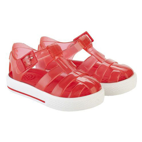 Igor Buckle Strap Tennis Sandal Red