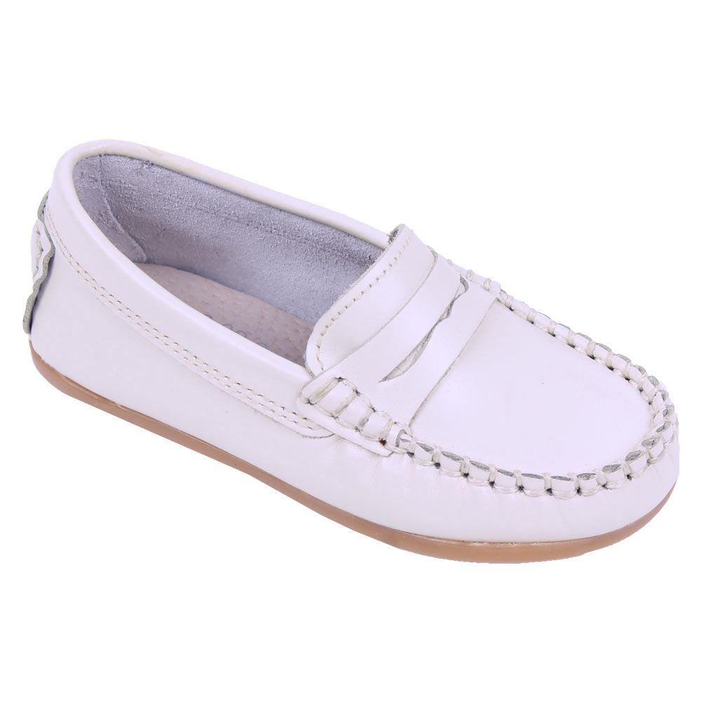 TNY Leather Loafer Cream