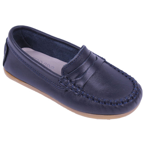 TNY Leather Loafer Navy