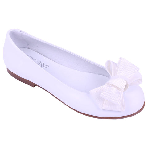TNY Bow Pumps White