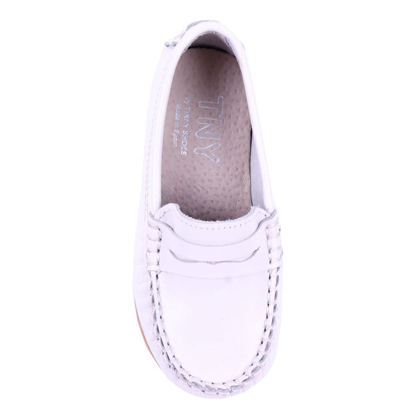 TNY Leather Loafer White