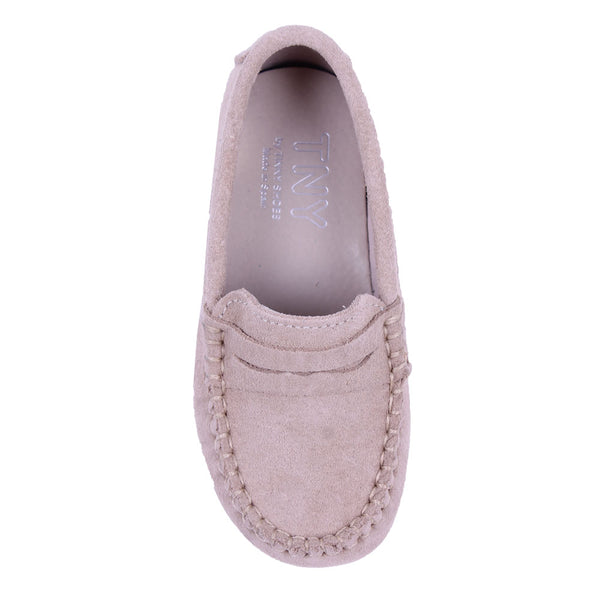 TNY Suede Leather Loafer Sand
