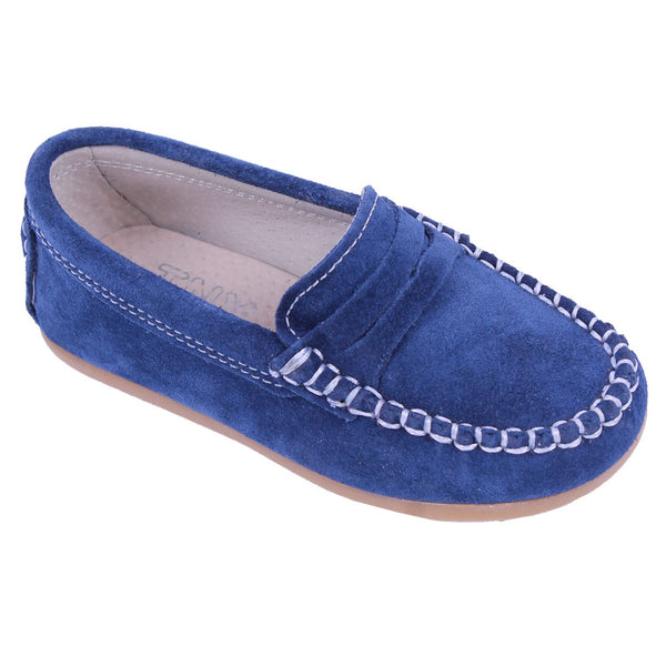 TNY Suede Leather Loafer Navy