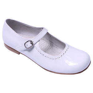 TNY Patent Leather Mary Janes White