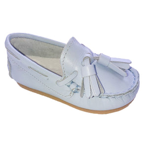 Pretty Originals Leather Tassel Loafer Pale Blue
