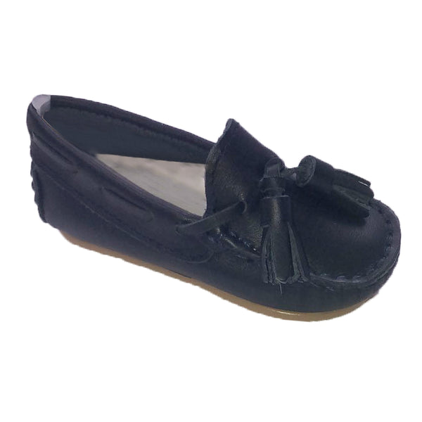 Pretty Originals Leather Tassel Loafer Navy