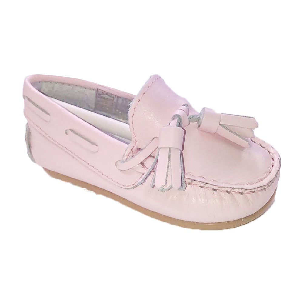 Pretty Originals Leather Tassel Loafer Pink