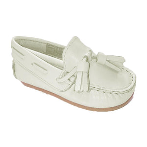 Pretty Originals Leather Tassel Loafer Cream
