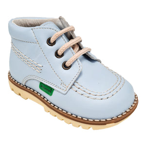 Andanines Pale Blue Leather Tan Sole