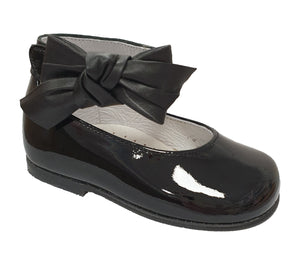 Andanines Patent Leather Ankle Strap Shoe Black