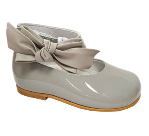Andanines Patent Leather Ankle Strap Shoe Grey