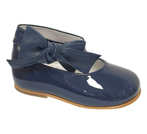 Andanines Patent Leather Ankle Strap Shoe Navy