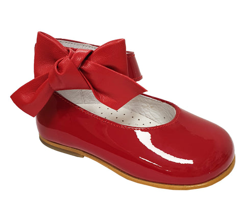 Andanines Patent Leather Ankle Strap Shoe Red