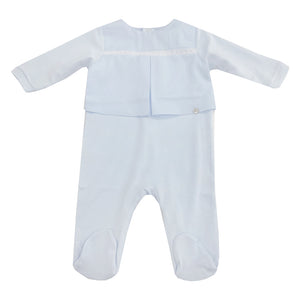Purete Du Bebe Star Trim Sleepsuit Blue
