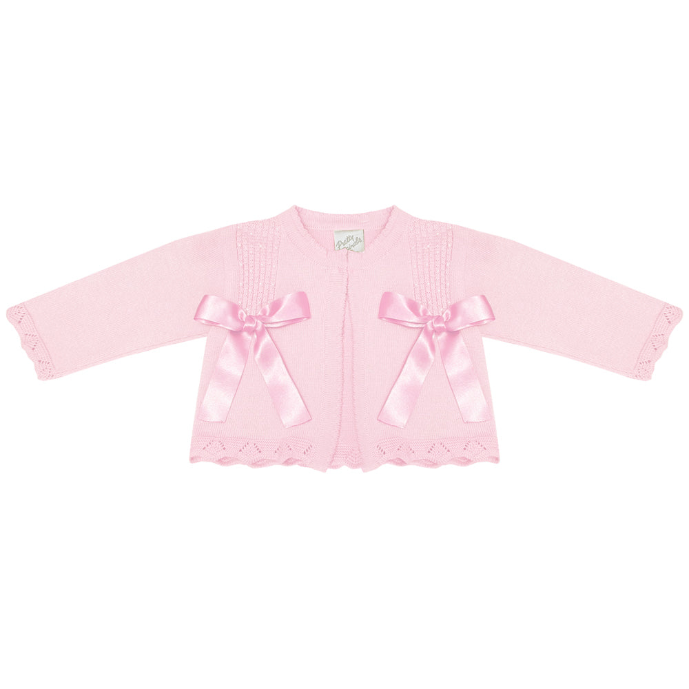 Pretty Originals Double Bow Cardigan Pink