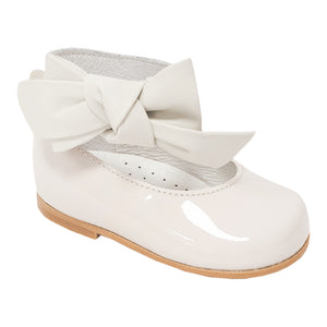 Andanines Patent Leather Ankle Strap Shoe Cream