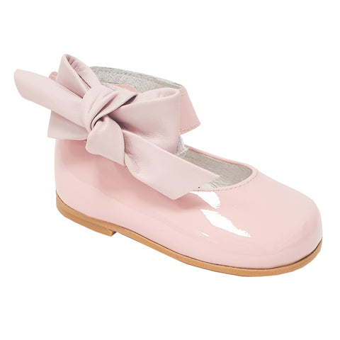 Andanines Patent Leather Ankle Strap Shoe Pink
