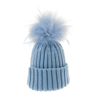 Bowtique London Matching Pom Hat Blue