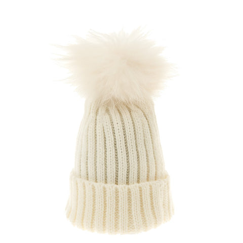 Bowtique London Matching Pom Hat Cream