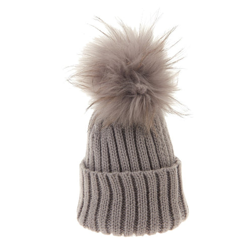 Bowtique London Matching Pom Hat Grey