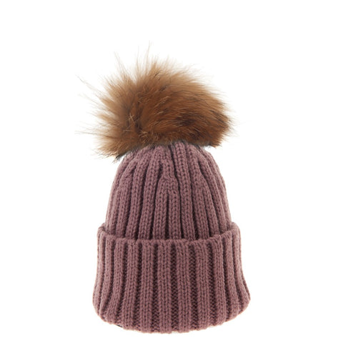 Bowtique London Neutral Pom Hat Lilac