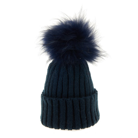 Bowtique London Matching Pom Hat Navy