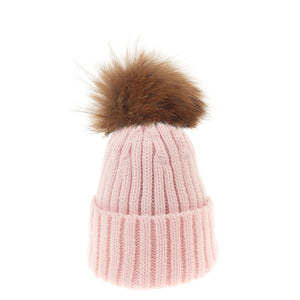 Bowtique London Neutral Pom Hat Pink