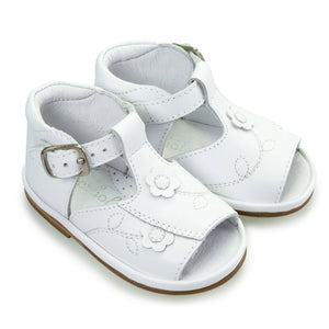 Borboleta Cecelia Sandals White Leather