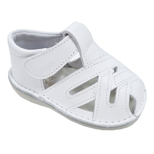 Pretty Originals Cross Detail Leather Sandal White