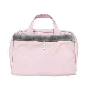 Uzturre Faux Fur Trim Pram Bag Pink