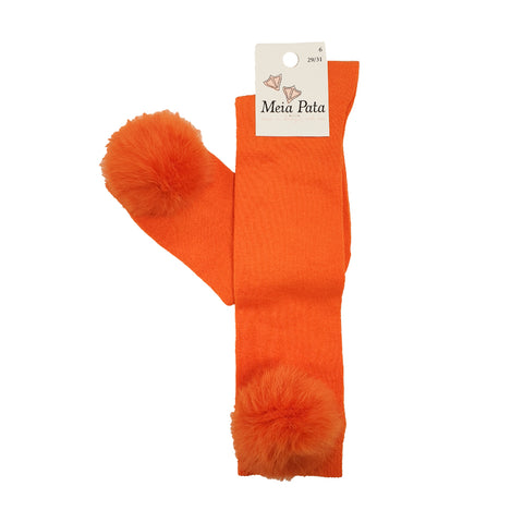 Meia Pata Fur Pom Pom Socks Orange