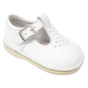 Andanines T-Bar Shoes White