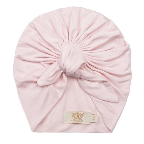 Caramelo Knot Tie Turban Pink