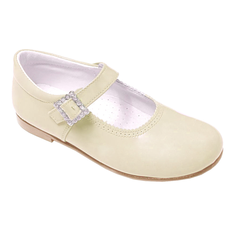 Pretty Originals Leather Mary Jane Cream