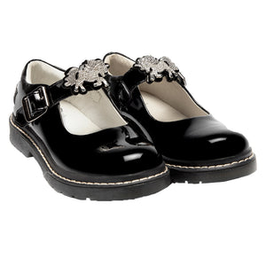 Lelli Kelly Bessie Unicorn Black Patent Shoes