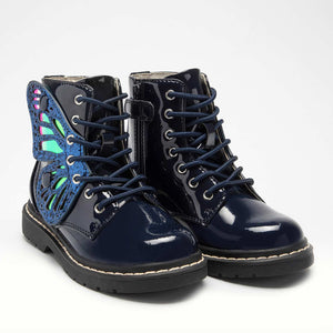 Lelli Kelly Butterfly Boots Navy