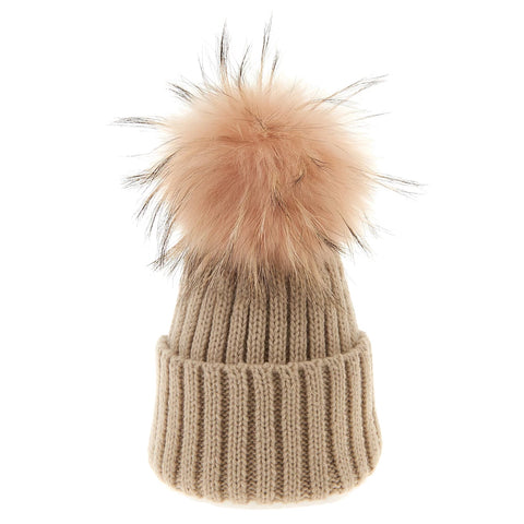 Bowtique London Matching Pom Hat Sand