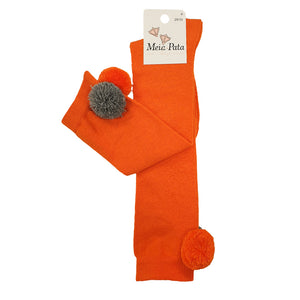 Meia Pata Pom Pom Socks Orange