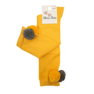 Meia Pata Pom Pom Socks Yellow