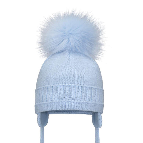 Pom Pom Envy Single Pom Hat Blue