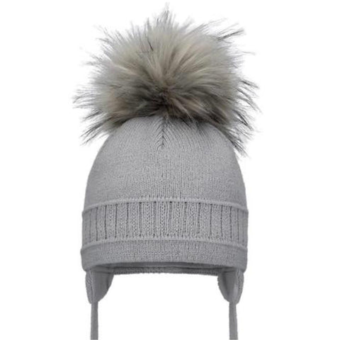 Pom Pom Envy Single Pom Hat Grey