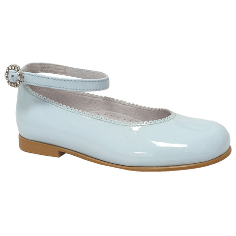 Pretty Originals Ankle Band Patent Leather Pale Blue
