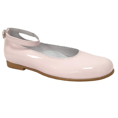 Pretty Originals Ankle Band Patent Leather Pale Pink