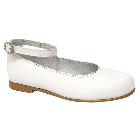 Pretty Originals Ankle Band Patent Leather White