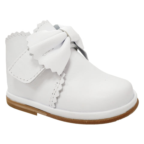 Borboleta Sharon Leather Bow Boots White