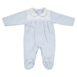 Babidu Cotton Sleepsuit Blue