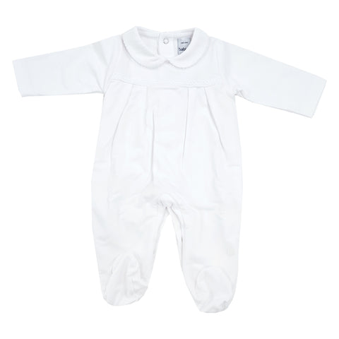 Babidu Cotton Sleepsuit White