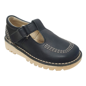 Andanines T-Bar Shoes Leather Navy