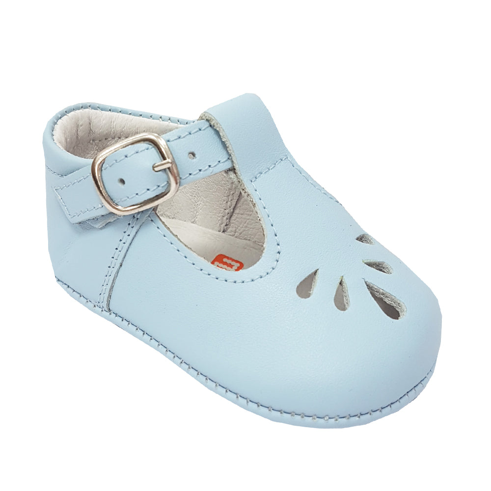 Andanines Teardrop T-Bar Soft Sole Pale Blue